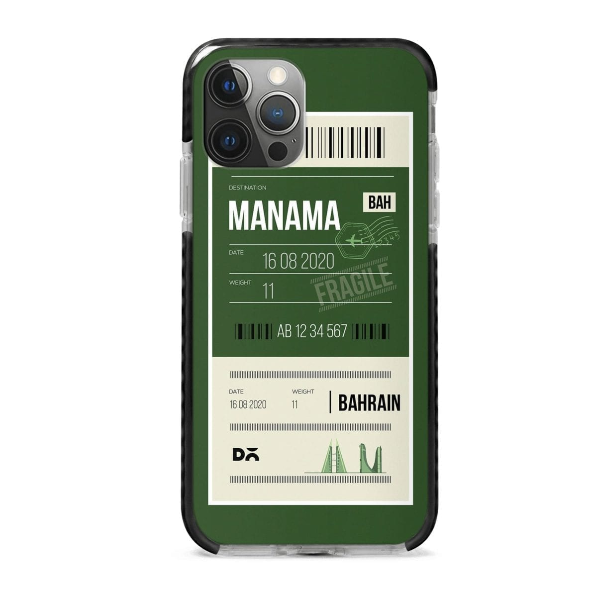 Manama Bahrain City Stride Case Cover for Apple iPhone 12 Pro and Apple iPhone 12 Pro Max with great design and shock proof | Klippik | Online Shopping | Kuwait UAE Saudi
