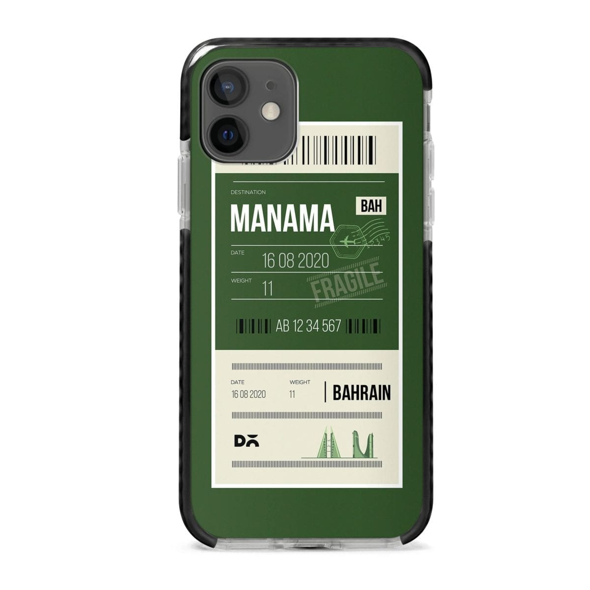Manama Bahrain City Stride Case Cover for Apple iPhone 12 Mini and Apple iPhone 12 with great design and shock proof | Klippik | Online Shopping | Kuwait UAE Saudi