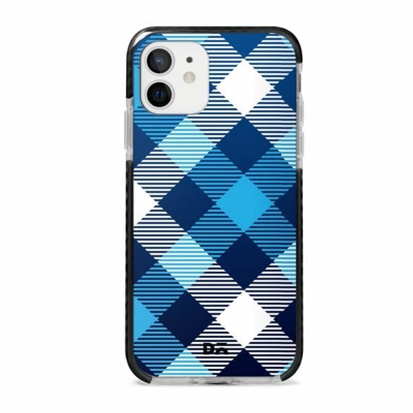 Medium Static Nightfall Checks Stride Case Cover for Apple iPhone 12 Mini and Apple iPhone 12 with great design and shock proof | Klippik | Online Shopping | Kuwait UAE Saudi