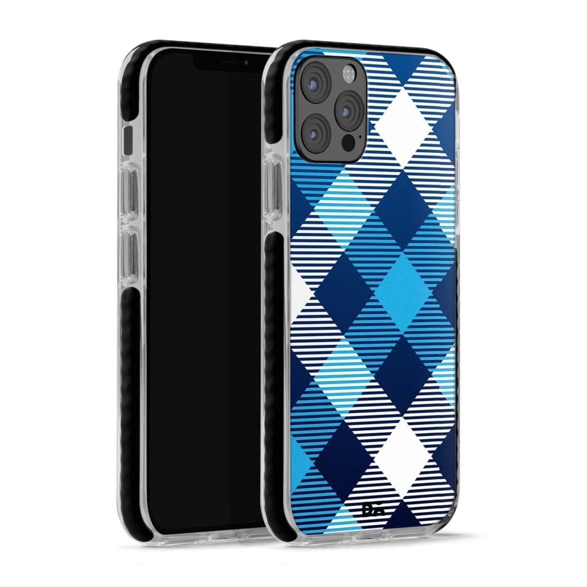 Medium Static Nightfall Checks Stride Case Cover for Apple iPhone 12 Pro and Apple iPhone 12 Pro Max with great design and shock proof | Klippik | Online Shopping | Kuwait UAE Saudi