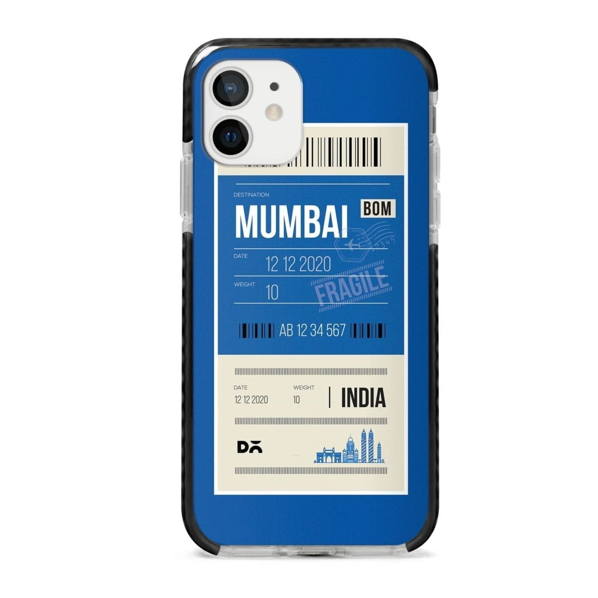 Mumbai City Tag Stride Case Cover for Apple iPhone 12 Mini and Apple iPhone 12 with great design and shock proof | Klippik | Online Shopping | Kuwait UAE Saudi