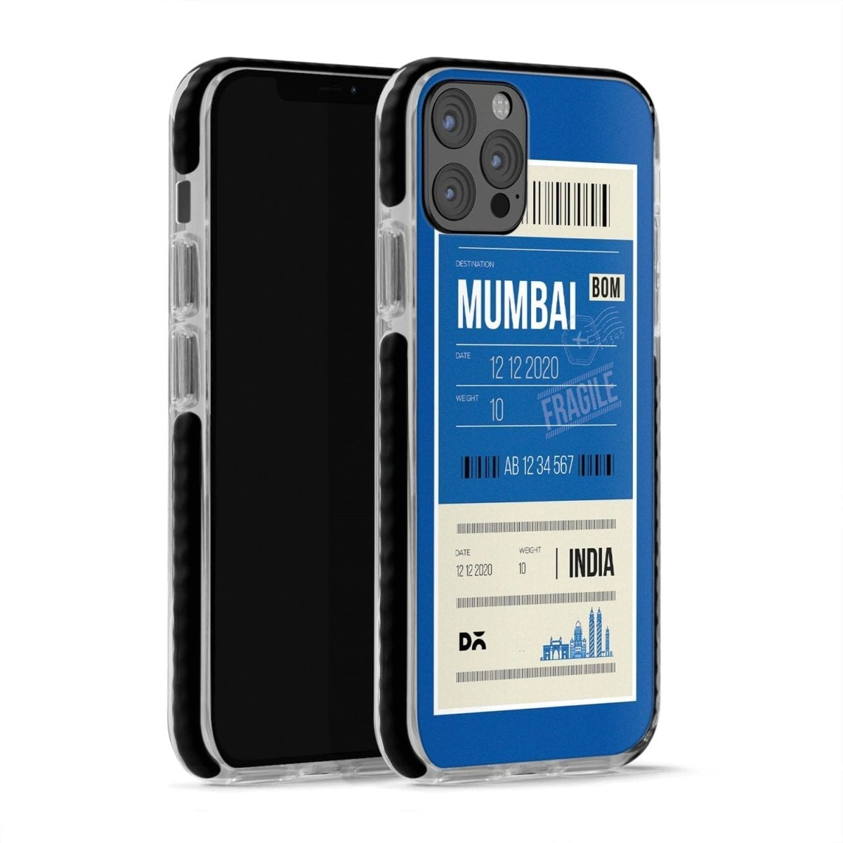 Mumbai City Tag Checks Stride Case Cover for Apple iPhone 12 Pro and Apple iPhone 12 Pro Max with great design and shock proof | Klippik | Online Shopping | Kuwait UAE Saudi