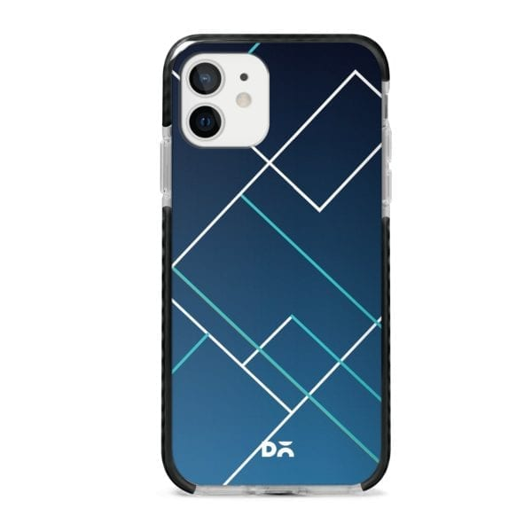 Nebula Tech Lines Checks Stride Case Cover for Apple iPhone 12 Mini and Apple iPhone 12 with great design and shock proof | Klippik | Online Shopping | Kuwait UAE Saudi