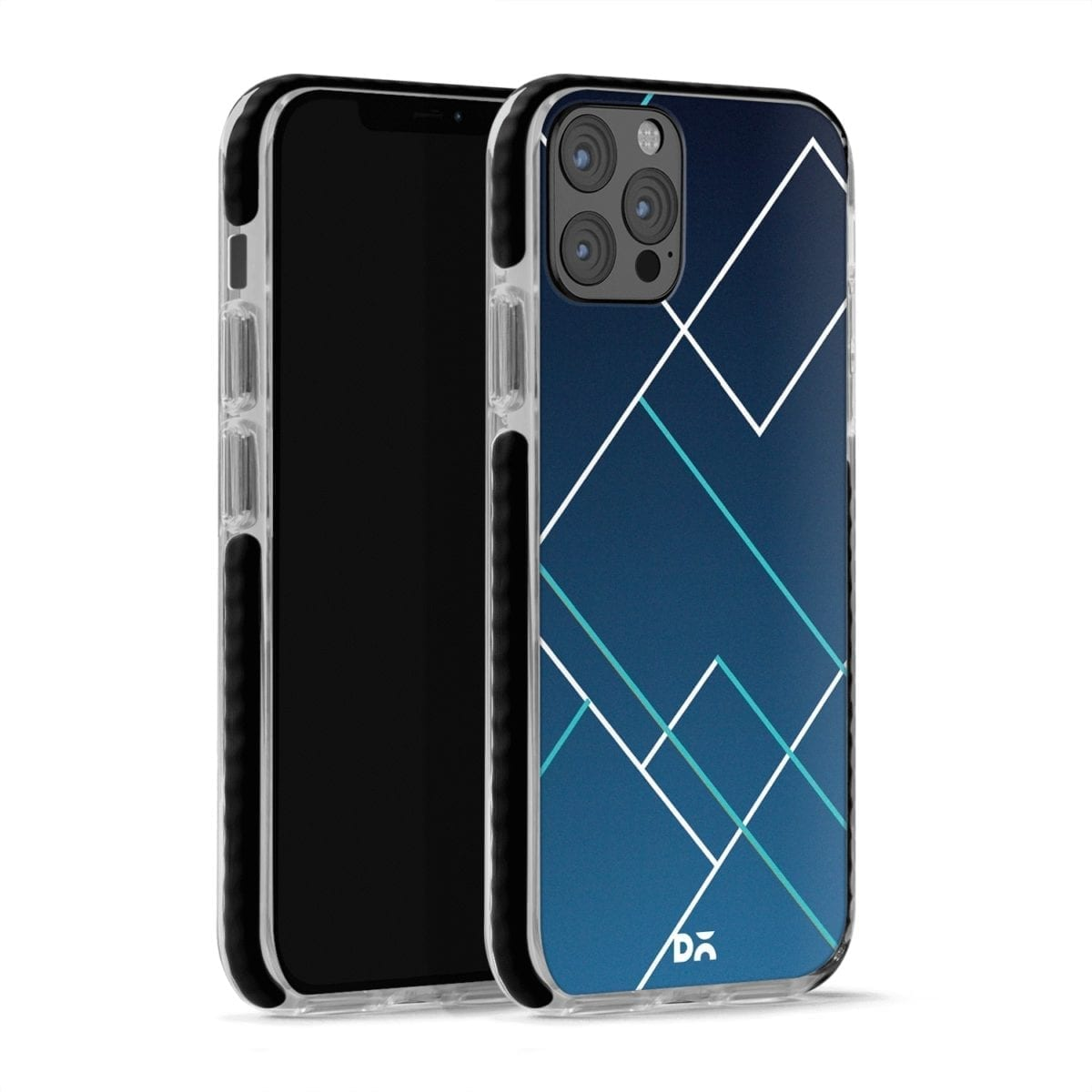 Nebula Tech Lines Checks Stride Case Cover for Apple iPhone 12 Pro and Apple iPhone 12 Pro Max with great design and shock proof | Klippik | Online Shopping | Kuwait UAE Saudi