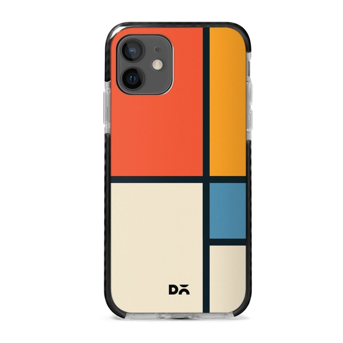 Orange Window Stride Case Cover for Apple iPhone 12 Mini and Apple iPhone 12 with great design and shock proof | Klippik | Online Shopping | Kuwait UAE Saudi