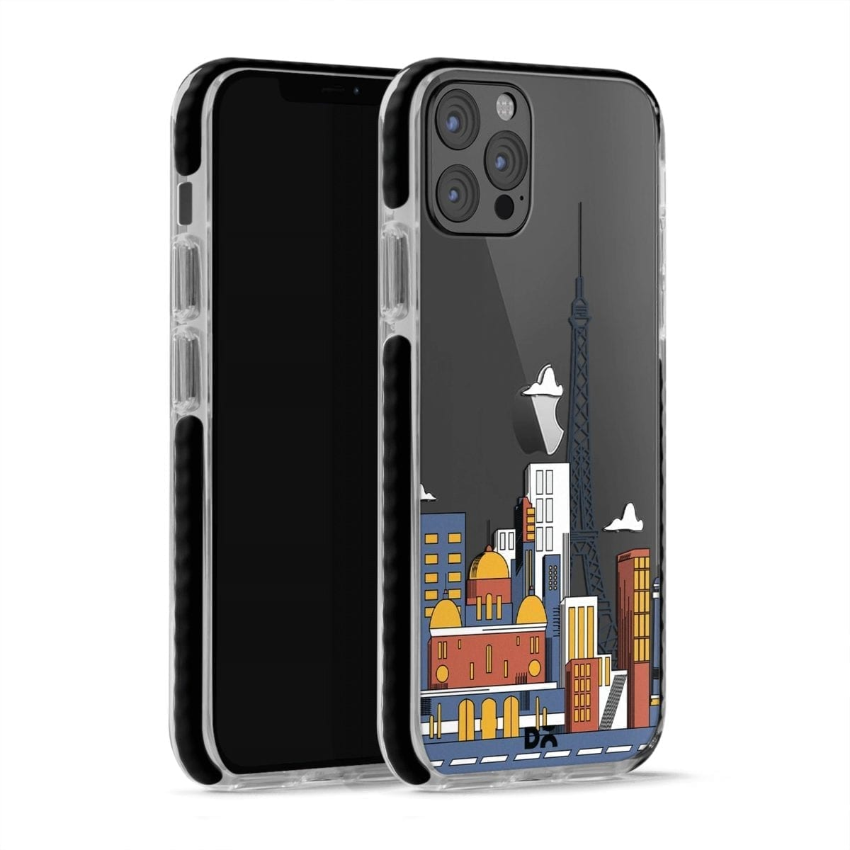 Paris Skyline Clear Stride Case Cover for Apple iPhone 12 Pro and Apple iPhone 12 Pro Max with great design and shock proof | Klippik | Online Shopping | Kuwait UAE Saudi