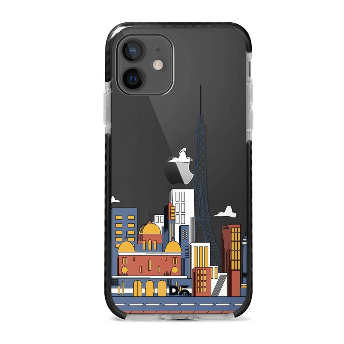 Paris Skyline Clear Stride Case Cover for Apple iPhone 12 Mini and Apple iPhone 12 with great design and shock proof | Klippik | Online Shopping | Kuwait UAE Saudi