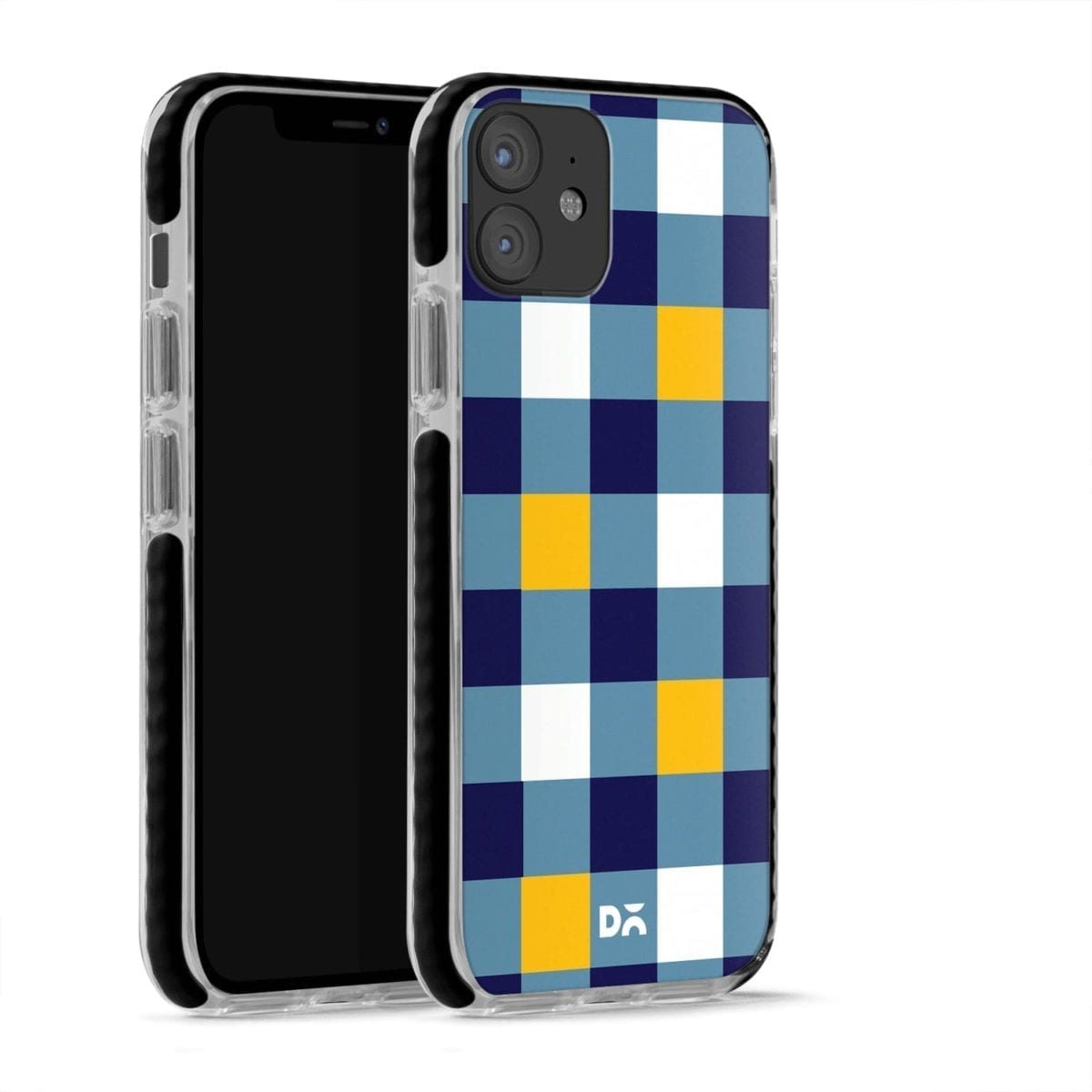Quartet Checks 1 Stride Case Cover for Apple iPhone 12 Mini and Apple iPhone 12 with great design and shock proof | Klippik | Online Shopping | Kuwait UAE Saudi