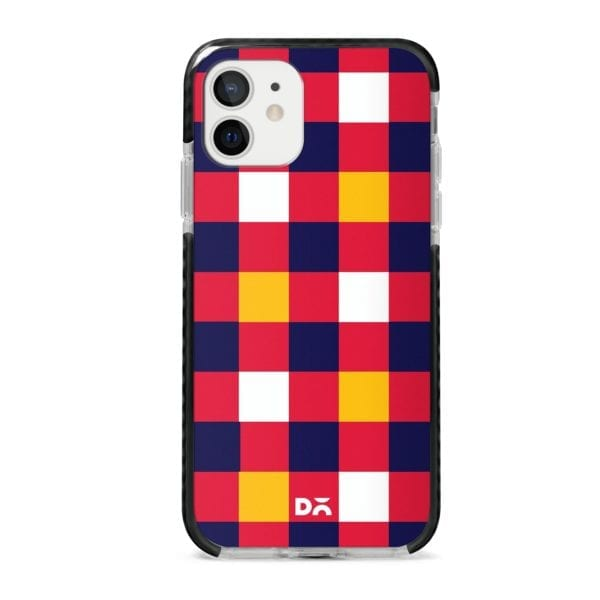 Quartet Checks 4 Stride Case Cover for Apple iPhone 12 Mini and Apple iPhone 12 with great design and shock proof | Klippik | Online Shopping | Kuwait UAE Saudi