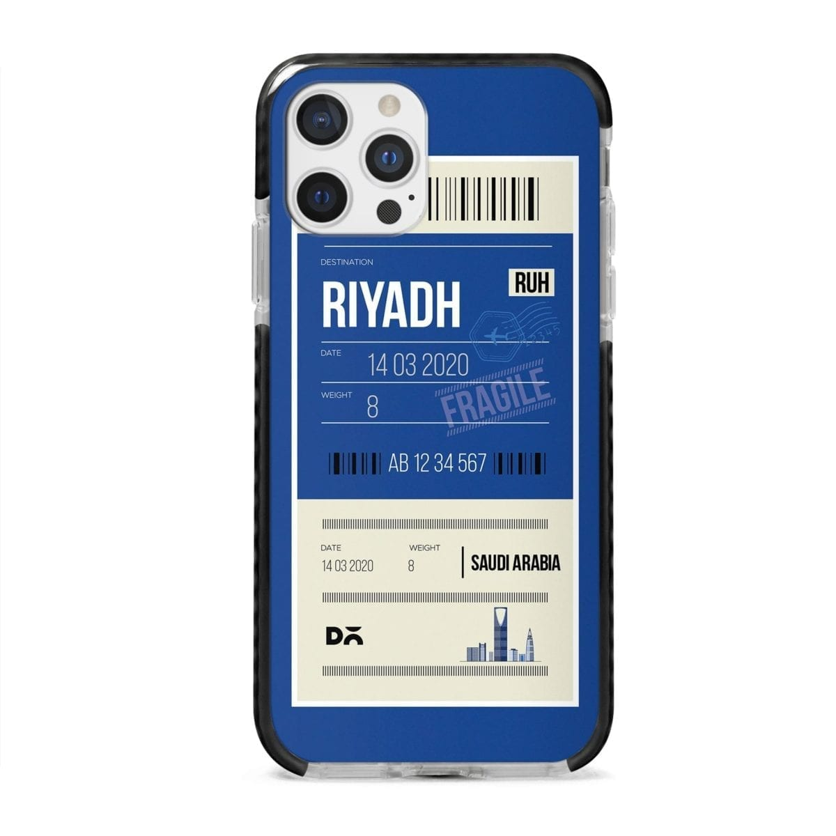 Riyadh City Tag Stride Case Cover for Apple iPhone 12 Pro and Apple iPhone 12 Pro Max with great design and shock proof | Klippik | Online Shopping | Kuwait UAE Saudi