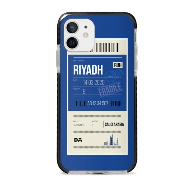 Riyadh City Tag Stride Case Cover for Apple iPhone 12 Mini and Apple iPhone 12 with great design and shock proof | Klippik | Online Shopping | Kuwait UAE Saudi