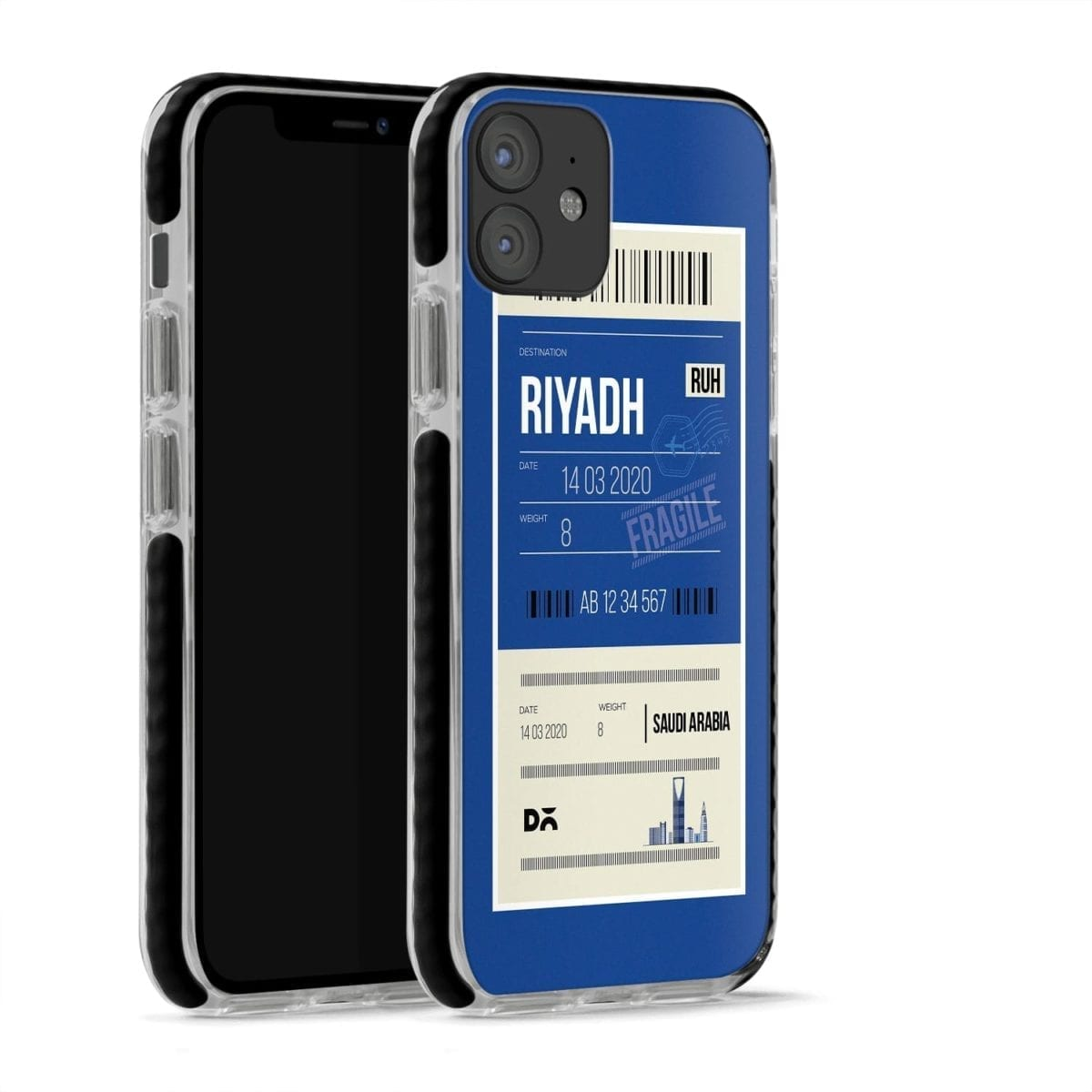 Riyadh City Tag Stride Case Cover for Apple iPhone 12 Mini and Apple iPhone 12 with great design and shock proof   Klippik   Online Shopping   Kuwait UAE Saudi