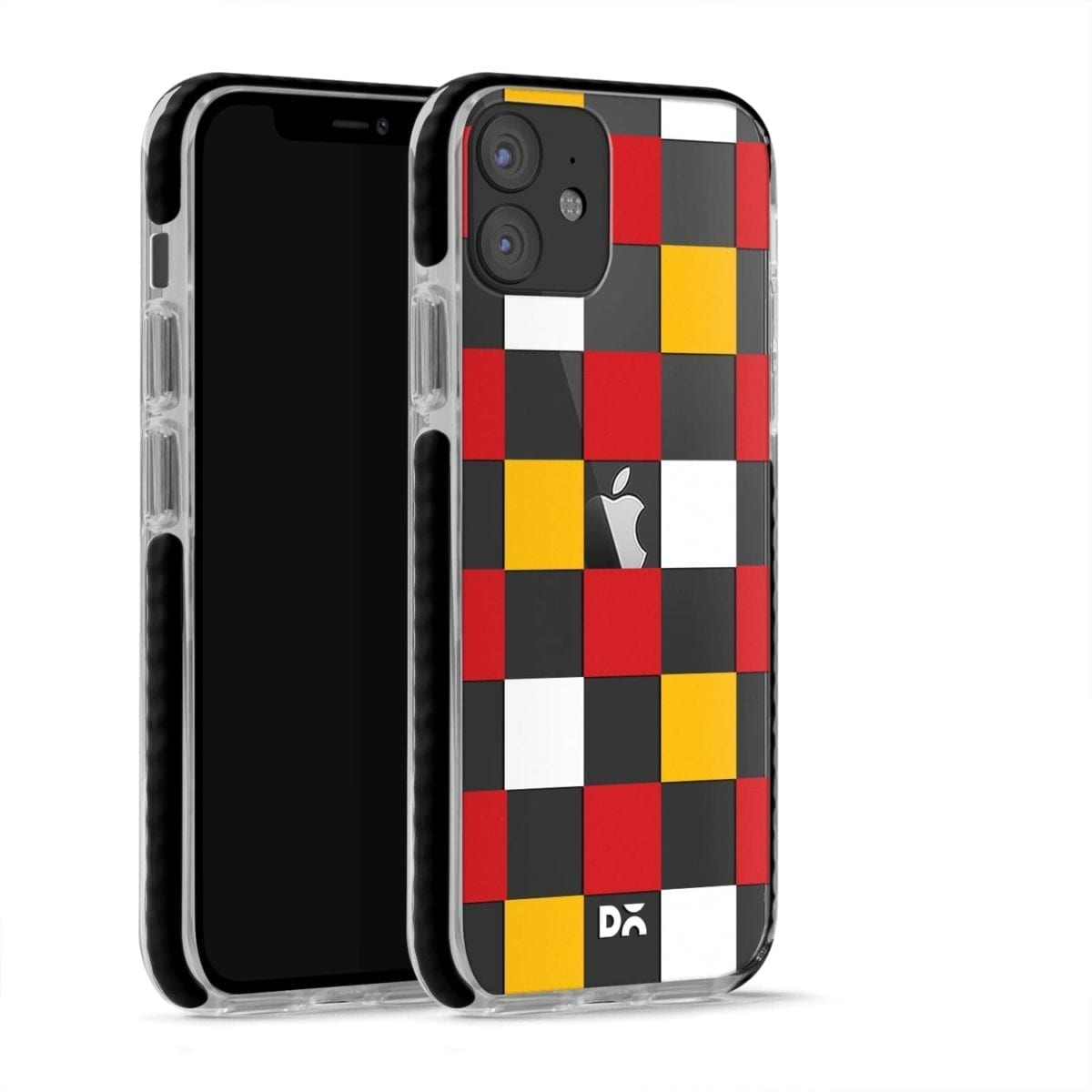 Small Tricolour Checks Stride Case Cover for Apple iPhone 12 Mini and Apple iPhone 12 with great design and shock proof | Klippik | Online Shopping | Kuwait UAE Saudi