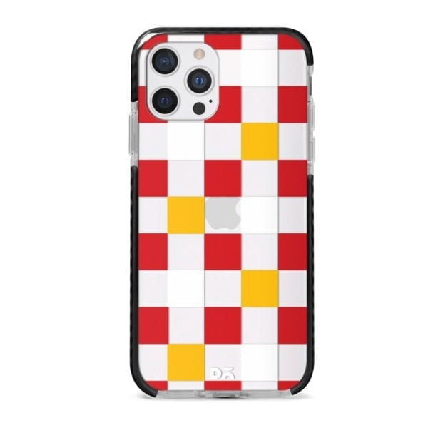 Small Tricolour Checks Stride Case Cover for Apple iPhone 12 Pro and Apple iPhone 12 Pro Max with great design and shock proof | Klippik | Online Shopping | Kuwait UAE Saudi