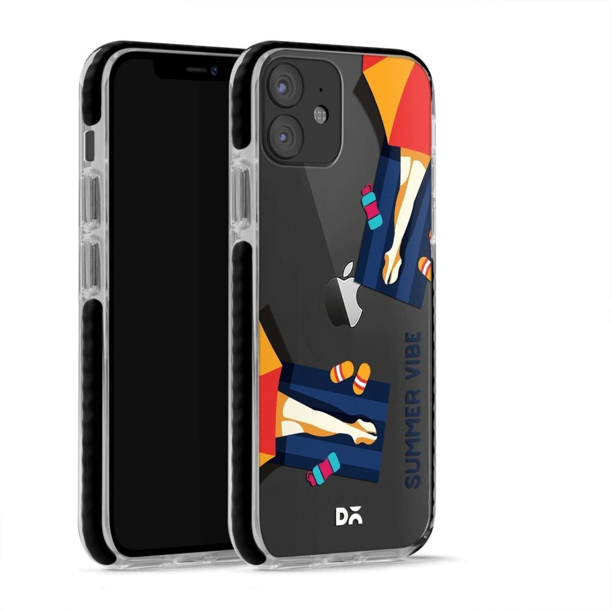 Summery Vibe Stride Case Cover for Apple iPhone 12 Mini and Apple iPhone 12 with great design and shock proof | Klippik | Online Shopping | Kuwait UAE Saudi