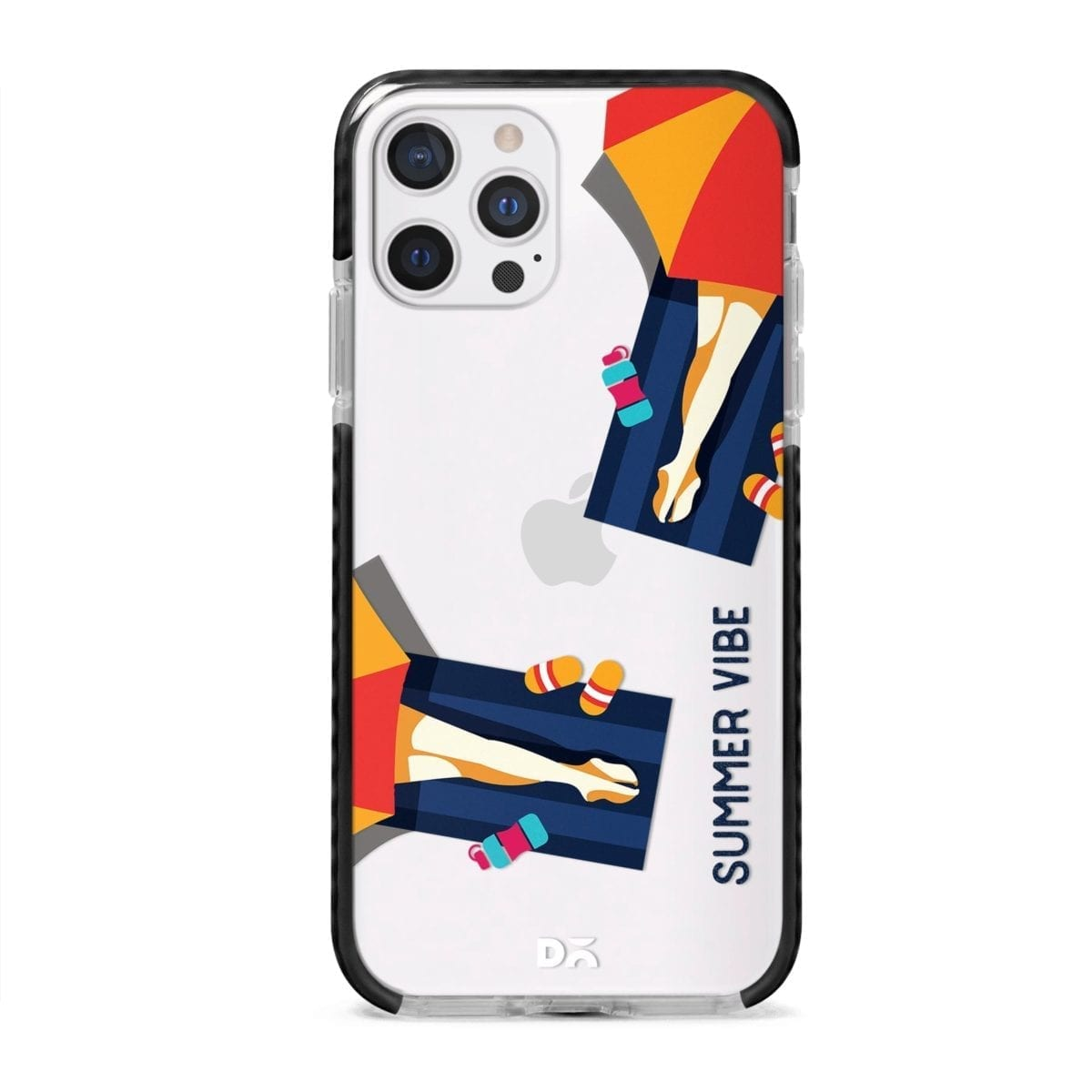 Summery Vibe Stride Case Cover for Apple iPhone 12 Pro and Apple iPhone 12 Pro Max with great design and shock proof | Klippik | Online Shopping | Kuwait UAE Saudi