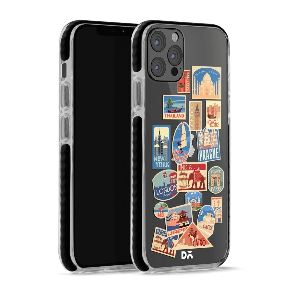 Travel Bucket Clear Stride Case Cover for Apple iPhone 12 Pro and Apple iPhone 12 Pro Max with great design and shock proof | Klippik | Online Shopping | Kuwait UAE Saudi