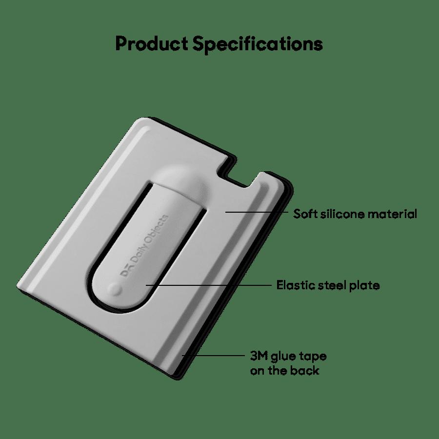 Buy Arch CardSafe Wallet with Phone Stand - Grey | Phone Stands | Buy Online Kuwait UAE Saudi | KlippiK.com