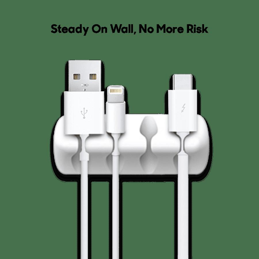 Buy Clip-on Cable Sticker white - Set of 5 | Organizers | Buy Online Kuwait UAE Saudi | KlippiK.com