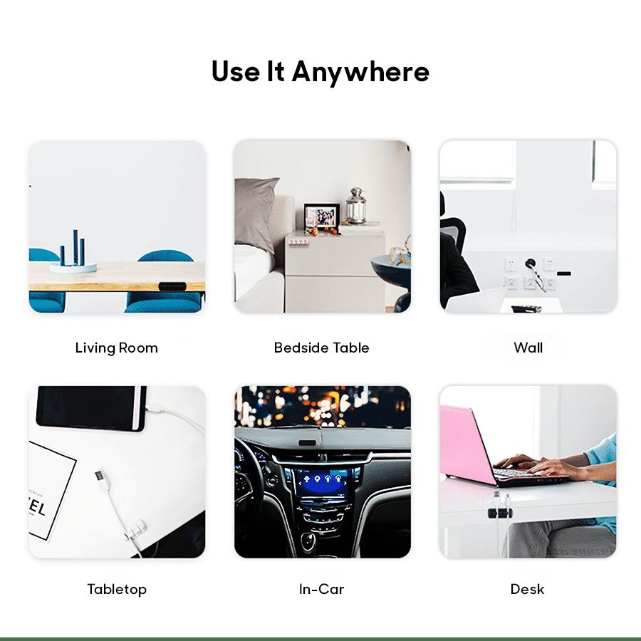 Buy Clip-on Cable Sticker white - Set of 5   Organizers   Buy Online Kuwait UAE Saudi   KlippiK.com