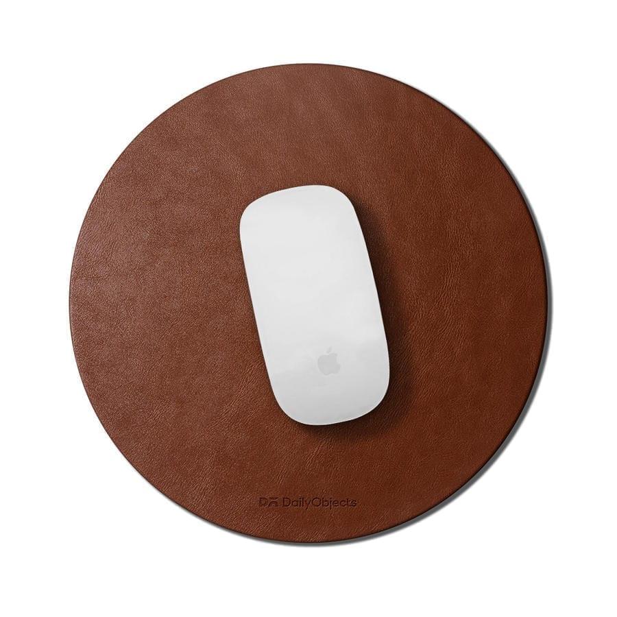 Orb Vegan Leather Mouse Pad (Tan) | Office Desk | Buy Online Kuwait UAE Saudi | KlippiK.com