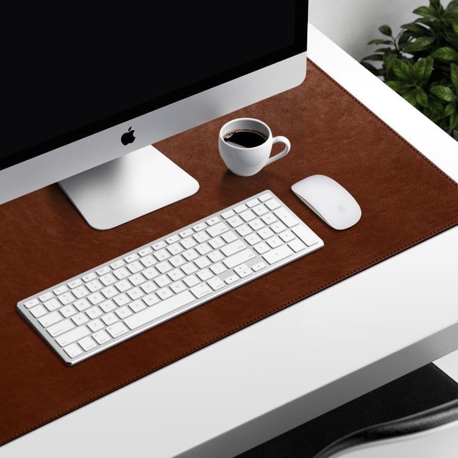 Buy Turf Vegan Leather Desk Mat (Tan) | Office Desk | Buy Online Kuwait UAE Saudi | KlippiK.com