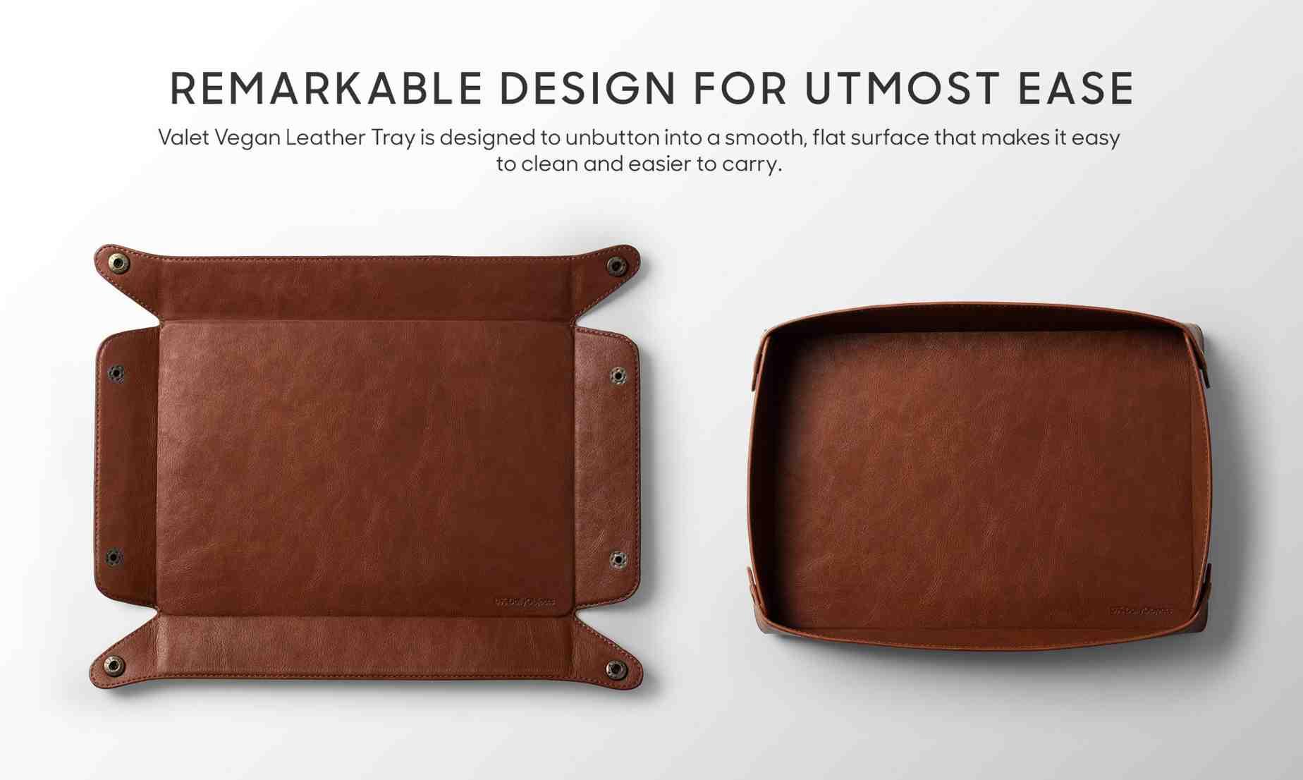 Valet Vegan Leather Tray (Tan)   Office Desk   Buy Online Kuwait UAE Saudi   KlippiK.com