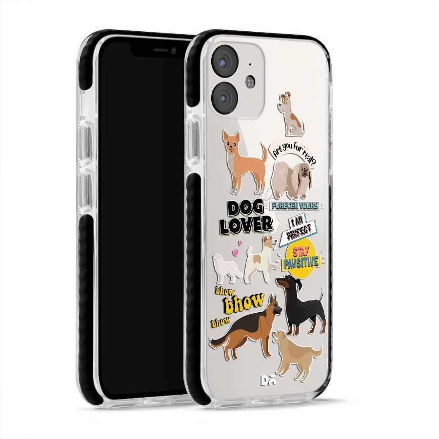 Fur Babies Clear Stride Case Cover for Apple iPhone 12 mini and Apple iPhone 12 with great design and shock proof | Klippik | Online Shopping | Kuwait UAE Saudi