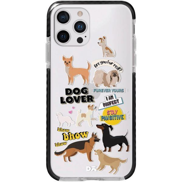 Fur Babies Clear Stride Case Cover for Apple iPhone 12 Pro and Apple iPhone 12 Pro Max with great design and shock proof | Klippik | Online Shopping | Kuwait UAE Saudi