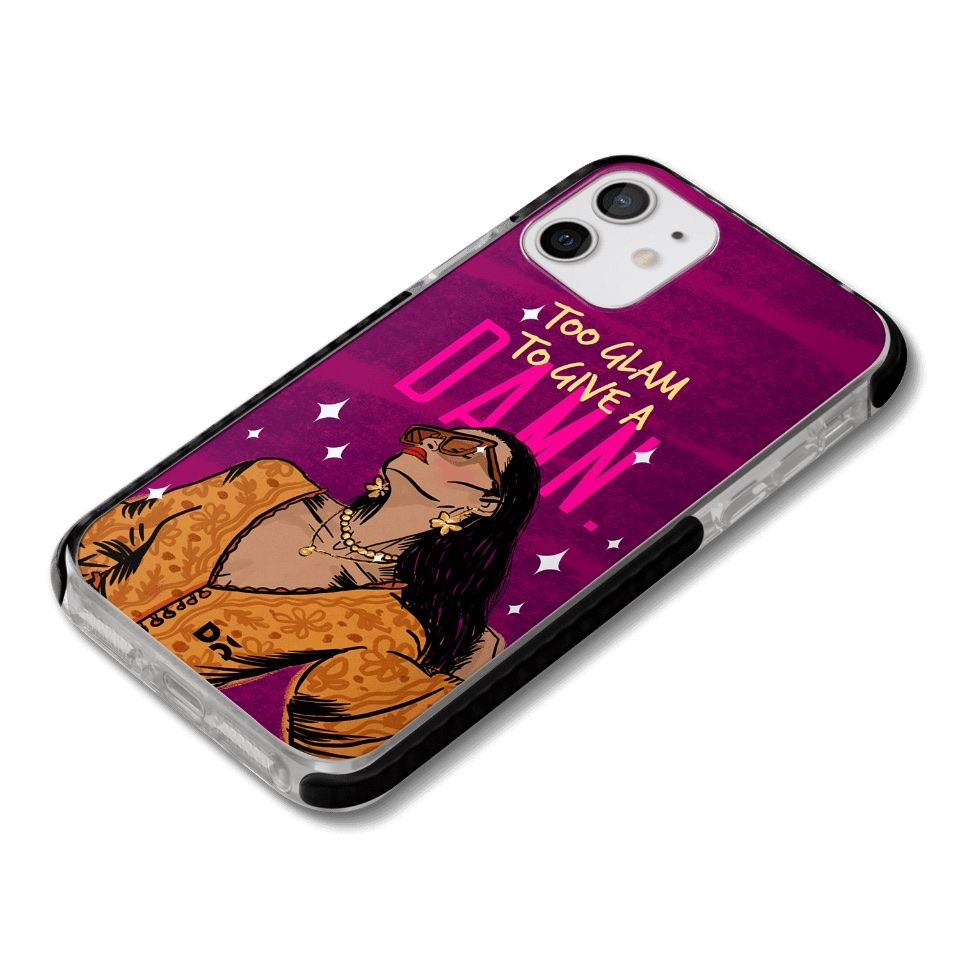 Too Glam Damn Queen Stride Case Cover for Apple iPhone 12 mini and Apple iPhone 12 with great design and shock proof | Klippik | Online Shopping | Kuwait UAE Saudi