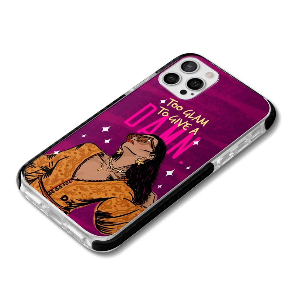 Too Glam Damn Queen Stride Case Cover for Apple iPhone 12 Pro and Apple iPhone 12 Pro Max with great design and shock proof | Klippik | Online Shopping | Kuwait UAE Saudi