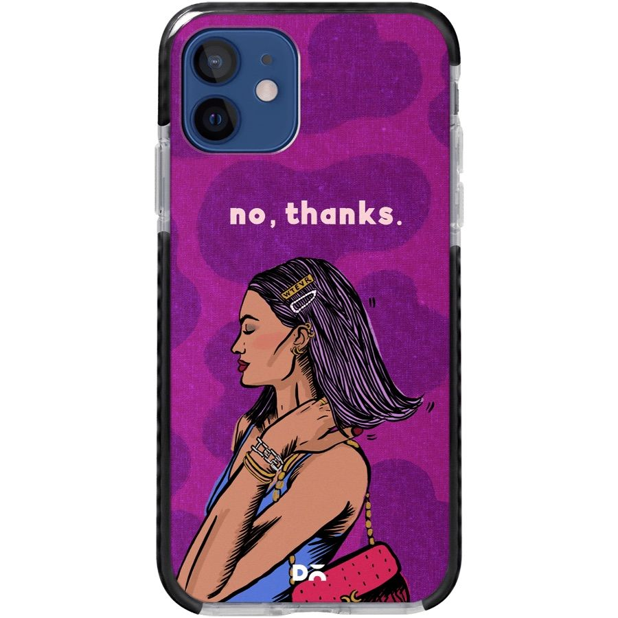 No Thanks Queen Stride Case Cover for Apple iPhone 12 mini and Apple iPhone 12 with great design and shock proof | Klippik | Online Shopping | Kuwait UAE Saudi