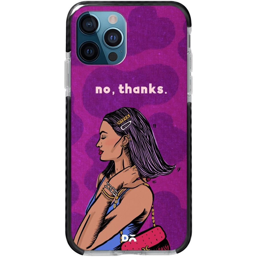 No Thanks Queen Stride Case Cover for Apple iPhone 12 Pro and Apple iPhone 12 Pro Max with great design and shock proof | Klippik | Online Shopping | Kuwait UAE Saudi