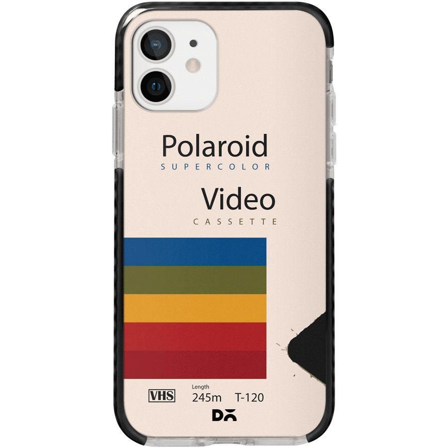 Polaroid VHS Stride Case Cover for Apple iPhone 12 mini and Apple iPhone 12 with great design and shock proof | Klippik | Online Shopping | Kuwait UAE Saudi
