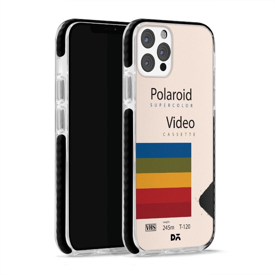 Polaroid VHS Stride Case Cover for Apple iPhone 12 Pro and Apple iPhone 12 Pro Max with great design and shock proof   Klippik   Online Shopping   Kuwait UAE Saudi