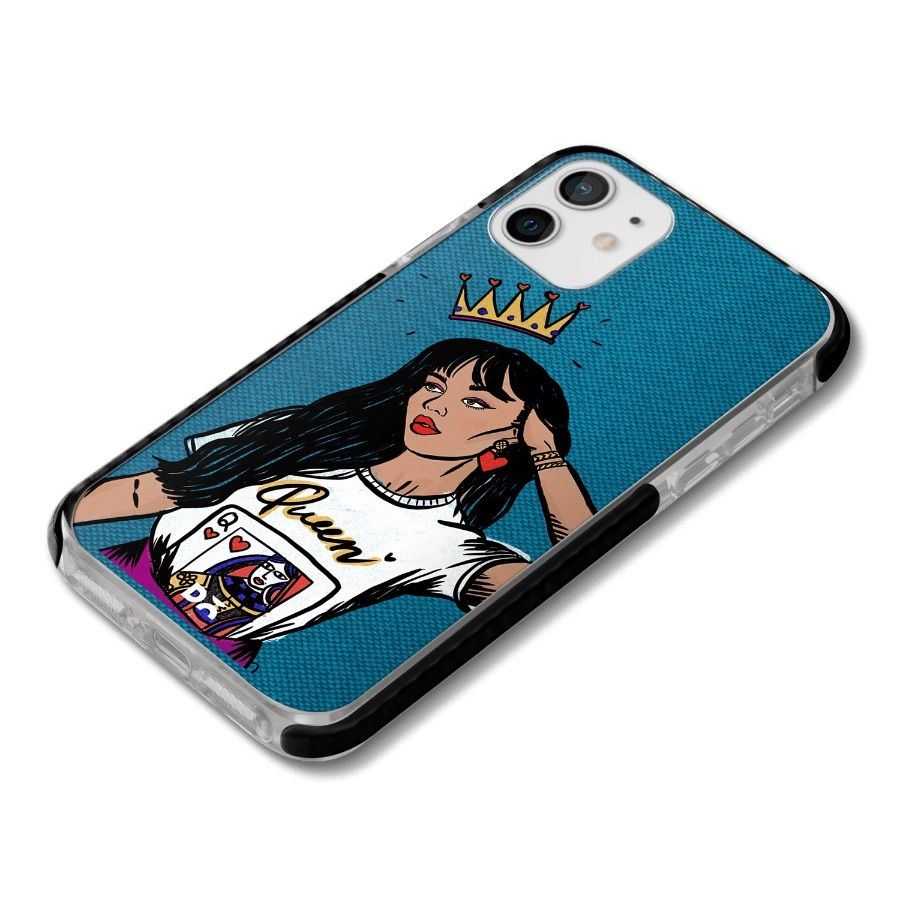Queen Babe Stride Case Cover for Apple iPhone 12 mini and Apple iPhone 12 with great design and shock proof | Klippik | Online Shopping | Kuwait UAE Saudi