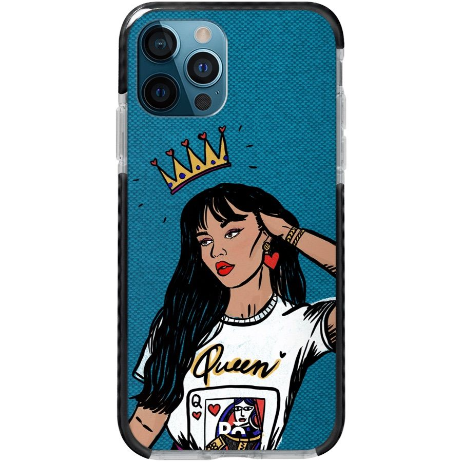 Queen Babe Stride Case Cover for Apple iPhone 12 Pro and Apple iPhone 12 Pro Max with great design and shock proof | Klippik | Online Shopping | Kuwait UAE Saudi