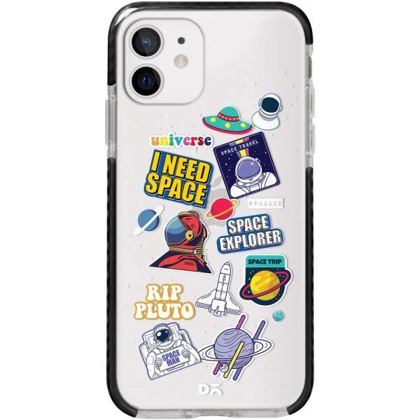 Space Cadet Clear Stride Case Cover for Apple iPhone 12 mini and Apple iPhone 12 with great design and shock proof | Klippik | Online Shopping | Kuwait UAE Saudi