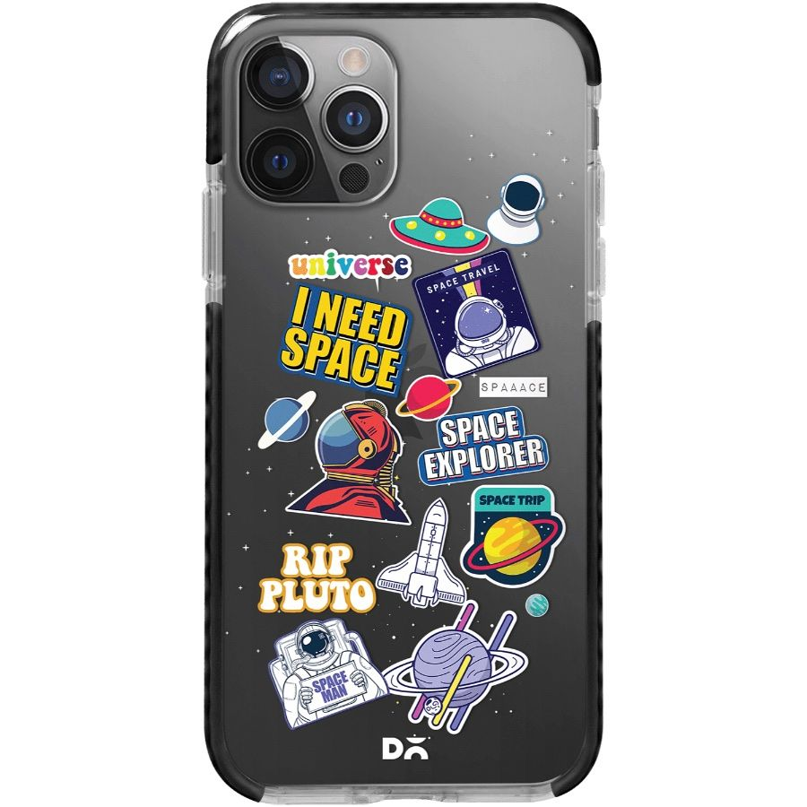 Space Cadet Clear Stride Case Cover for Apple iPhone 12 Pro and Apple iPhone 12 Pro Max with great design and shock proof | Klippik | Online Shopping | Kuwait UAE Saudi