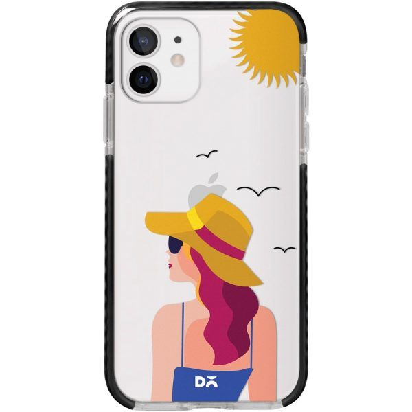 Sun Tan Clear Stride Case Cover for Apple iPhone 12 mini and Apple iPhone 12 with great design and shock proof | Klippik | Online Shopping | Kuwait UAE Saudi