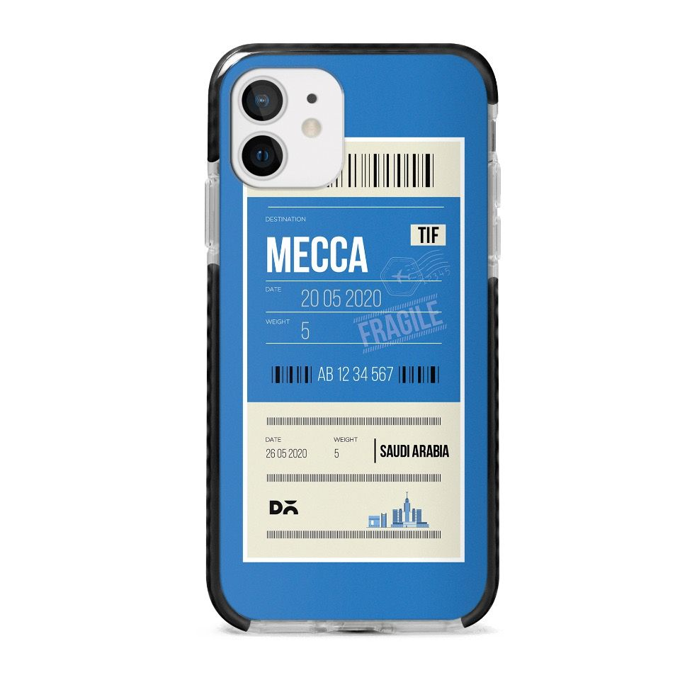 Mecca City Tag Stride Case Cover for Apple iPhone 12 Mini and Apple iPhone 12 with great design and shock proof | Klippik | Online Shopping | Kuwait UAE Saudi