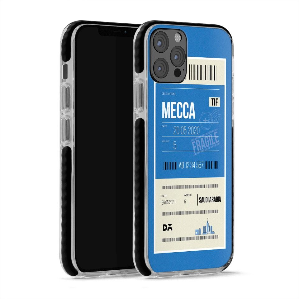 Mecca City Tag Stride Case Cover for Apple iPhone 12 Pro and Apple iPhone 12 Pro Max with great design and shock proof | Klippik | Online Shopping | Kuwait UAE Saudi