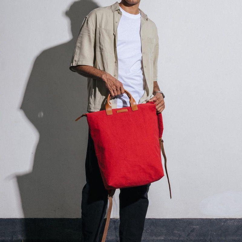 Crimson Red Pilot Backpack | Klippik | Best Backpacks | Online Shopping | Kuwait UAE Saudi