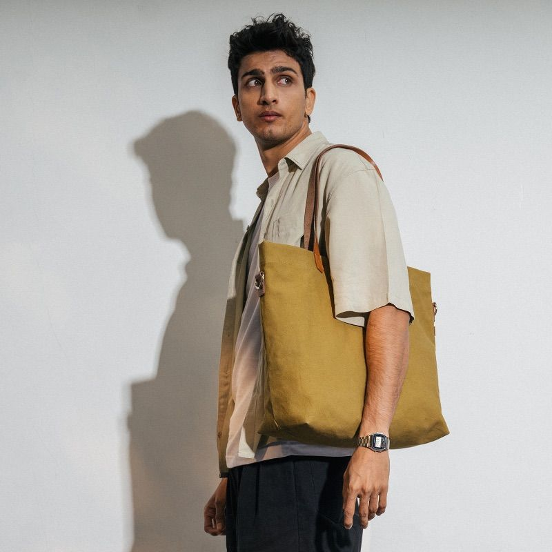 Olive Green Buoy Tote Bag   Klippik   Best Tote Bags   Online Shopping   Kuwait UAE Saudi