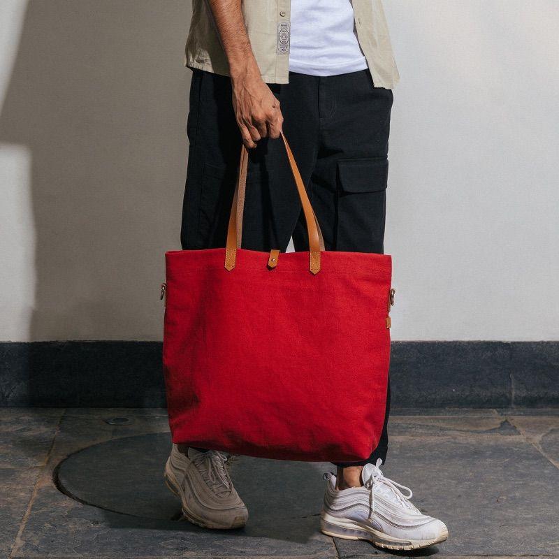 Crimson Red Buoy Tote Bag | Klippik | Best Tote Bags | Online Shopping | Kuwait UAE Saudi