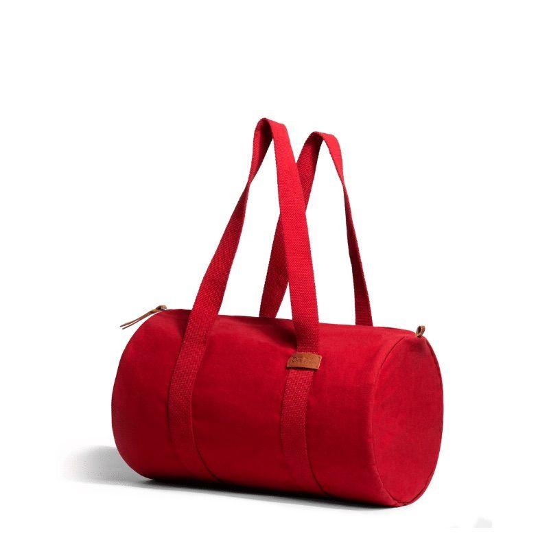 Crimson Red Swing Duffle Bag   Klippik   Best Duffle Bags   Online Shopping   Kuwait UAE Saudi