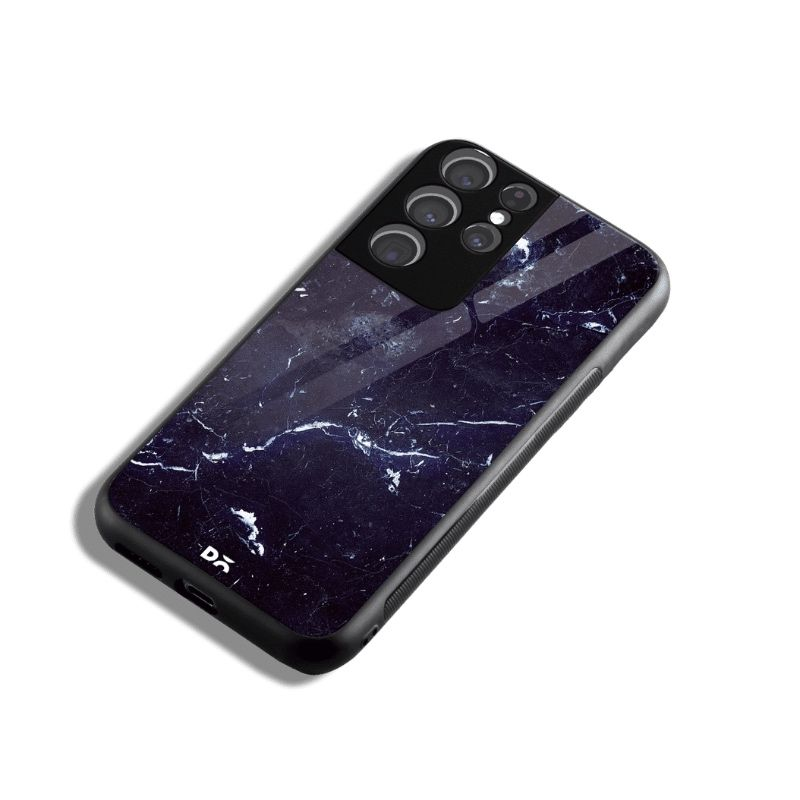 Constellation Marble Glass Case for Samsung Galaxy S21 Ultra | KlippiK Kuwait UAE Saudi Online Shopping