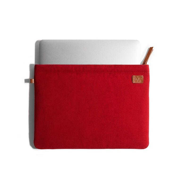 Amazing Red Canvas sleeves for your laptop, iPads, MacBooks, Tablets   Buy Online  KlippiK Kuwait UAE Saudi