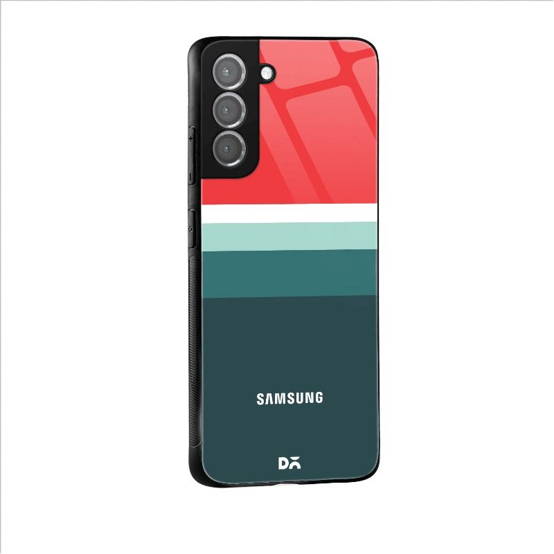 Red and Green Glass Case for Samsung Galaxy S21 | S21 Plus | KlippiK Kuwait UAE Saudi Online Shopping