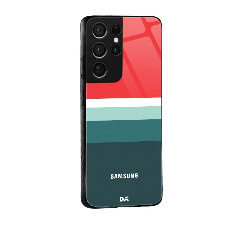 Red and Green Glass Case for Samsung Galaxy S21Ultra   KlippiK Kuwait UAE Saudi Online Shopping